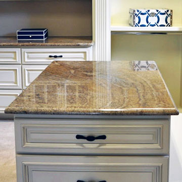 example of a brown granite kitchen counter