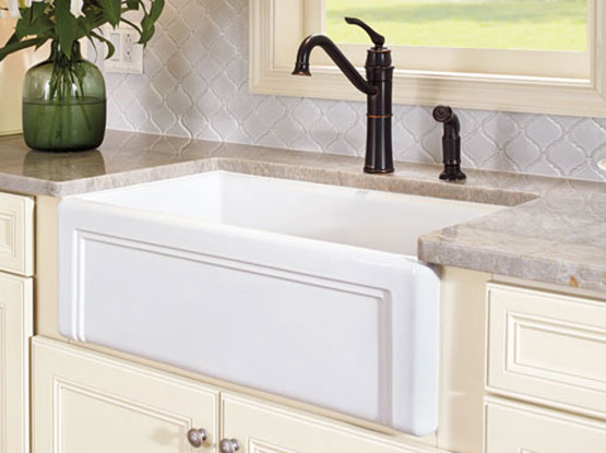 modern sink style with brass faucet